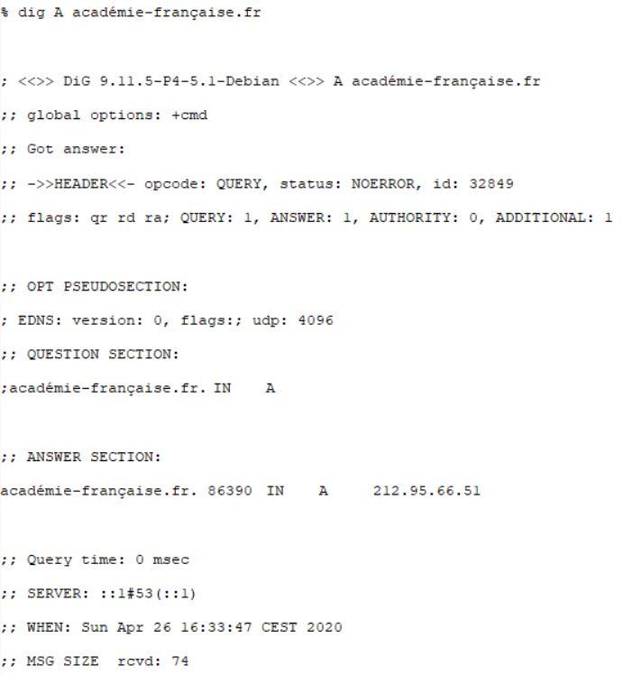 Héberger un nom de domaine avec caractères composés