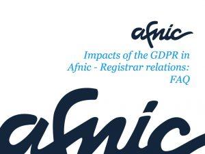 GDPR impacts