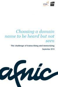 Choosing a domain name to be heard